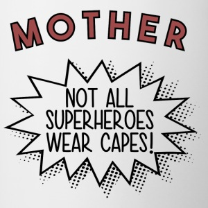Superhero MOTHER - Tasse zweifarbig
