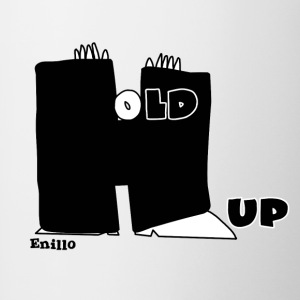 Enillo Hold Up Grafik & Typographie - Tasse zweifarbig