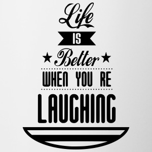 Life is better laughing - Contrasting Mug