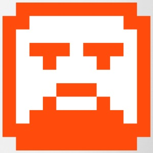 Pixelated Hipster Face / Faccia Hipster in Pixel - Tazze bicolor