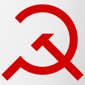 Simple Hammer and Sickle - Contrasting Mug