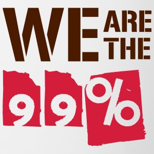 We are the 99 percent - Contrasting Mug