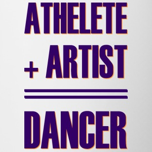 Athlete + artist = dancer - Contrasting Mug