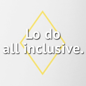 Lo do all inclusive - Tazze bicolor