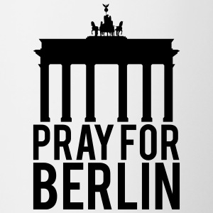 Pray for Berlin. Beds for Berlin - Contrasting Mug