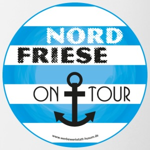 Nordfriese on tour - Tasse zweifarbig
