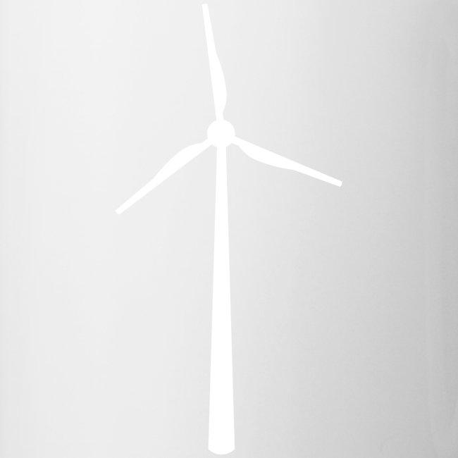 weißes Windrad