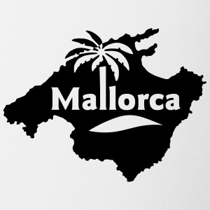 Mallorca Small Island Beach Party Spanien - Tvåfärgad mugg