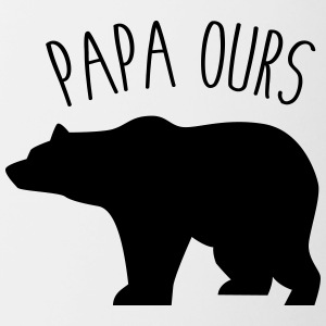 Papa ours - Tasse bicolore