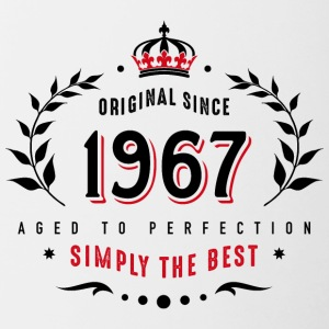 original since 1967 simply the best 50th birthday - Contrasting Mug