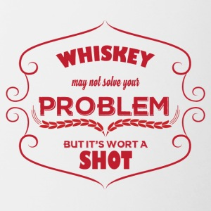 Whiskey - Whiskey may not solve your problem ... - Contrasting Mug