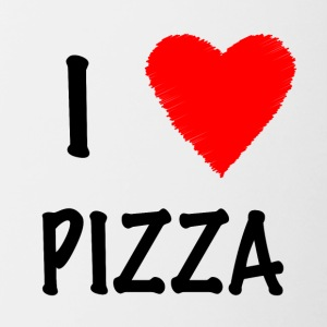 I Love Pizza - Kubek dwukolorowy