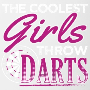 De coolste GIRLS darts gooien - Mok tweekleurig