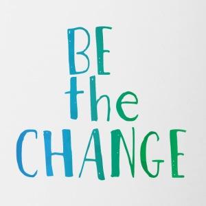 Hipster: Be the Change - Contrasting Mug