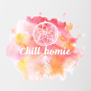 Hippie / Hippies: Chill Ho.mie - Tasse zweifarbig