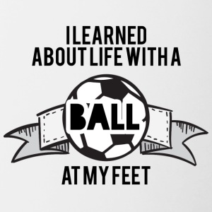 Football: I learned about life with a ball at my - Contrasting Mug