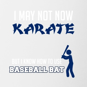 Baseball: io non ora karate. Ma so come - Tazze bicolor