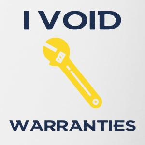 Bike: I void warranties. - Contrasting Mug