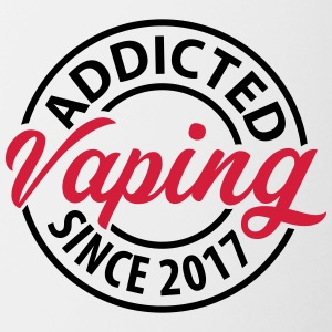 Vaping - Addicted since 2017 - Contrasting Mug