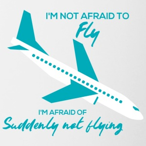 Pilot: I'm not afraid to fly. I'm afraid of - Contrasting Mug