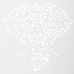 ELEPHANT HEAD white - Contrasting Mug