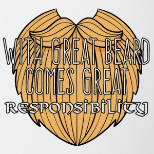 Wikinger: With Great Beard Comes Great Responsibil - Tasse zweifarbig