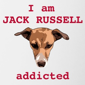 Jack russel addicted red - Contrasting Mug