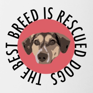 TS_rescued is de beste rode - Mok tweekleurig