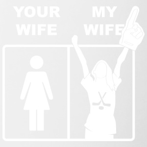 Your Wife My Wife Ice Hockey - Tasse zweifarbig