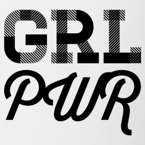 girlpower - Tasse bicolore