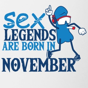 Birthday November Penis Sex Legends November - Contrasting Mug