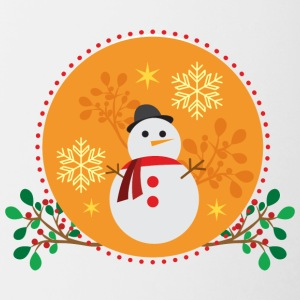 conception d'orange Snowman - Tasse bicolore