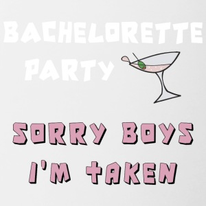 Bachelorette Party Sorry Boys jeg Taken - Tofarvet krus