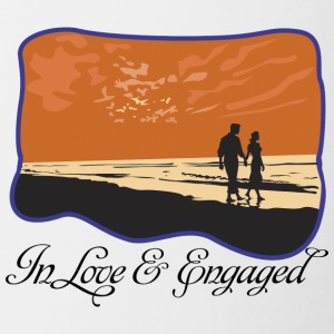 Engaged In Love - Contrasting Mug