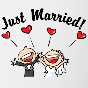 Just Married In Love - Mok tweekleurig
