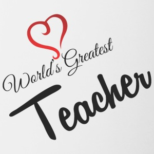 WORLDS GREATEST TEACHER - Tasse zweifarbig