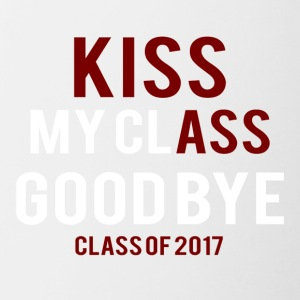 High School / Graduation: Kiss Ass - Kiss my Class - Contrasting Mug