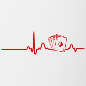 ECG HEARTLINK POKER red - Contrasting Mug