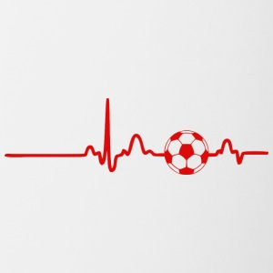 ECG HEART LINE FOOTBALL red - Contrasting Mug