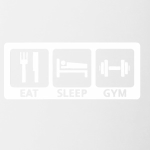Eat Sleep Gym - Tasse zweifarbig