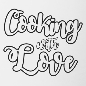 Cook / Chef: Cooking With Love - Tvåfärgad mugg
