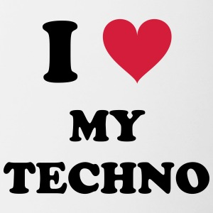 I LOVE MY TECHNO - Tazze bicolor