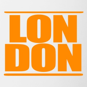 LON DON Logo Orange - Kubek dwukolorowy