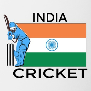 Indien Cricket Player Flag - Tofarvet krus