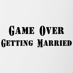 GAME OVER GETTING MARRIED - Contrasting Mug