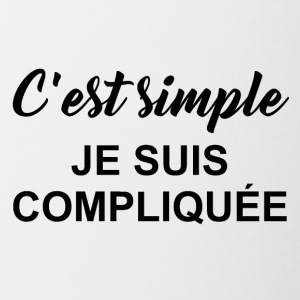 c est simple - Tasse bicolore