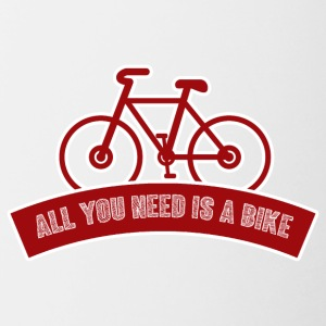 Bicycle: All you need is a bike - Contrasting Mug
