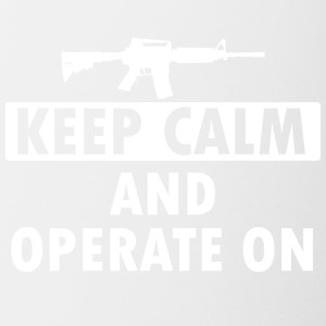 Keep Calm Operate on - Tasse zweifarbig