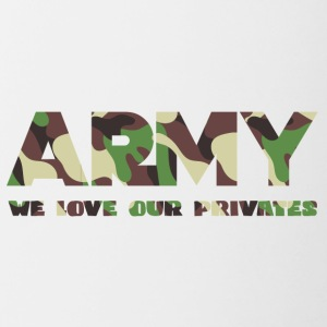 Militari / Soldati: Army - We Love Our Private - Tazze bicolor