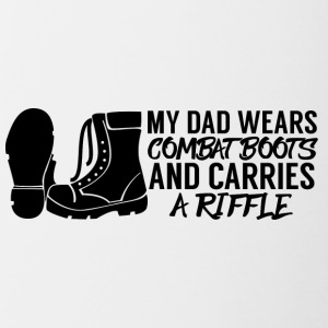 Military / Soldiers: My Dad Wears Combat Boots And - Contrasting Mug